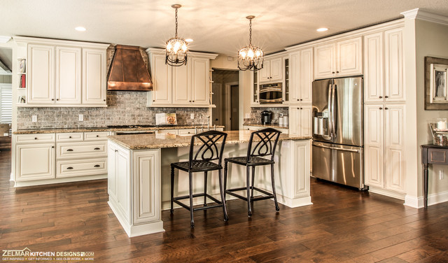 waypoint cabinets Kitchen Traditional with antique maple cabinetry custom