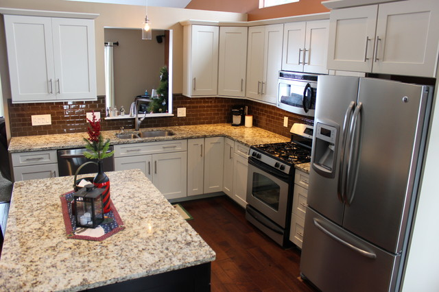 Waypoint Cabinets Spaces Traditional with Cabinet S Top Countertop Granite Island
