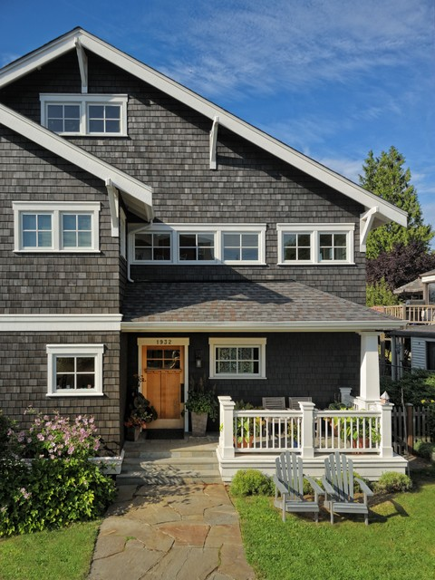 Weathered Wood Shingles Exterior Victorian with Black Shingle Exterior Black