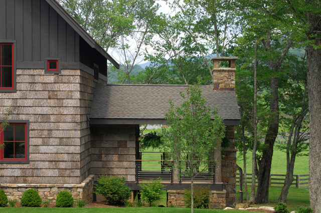 Weathered Wood Shingles Porch Rustic with Bark Shingles Board And