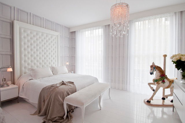 white blackout curtains Bedroom Scandinavian with Art bedroom chandelier bright