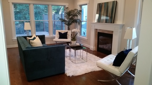 white fluffy rug Living Room Contemporary with Black Modern Coffee Table