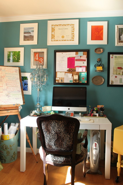 Whiteboard Easel Home Office Eclectic with Benjamin Moore Rendezvous Bay2