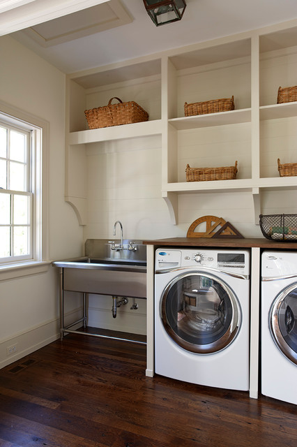 Wicker Basket Storage Laundry Room Traditional with Angles Antique Rulers Baseboard