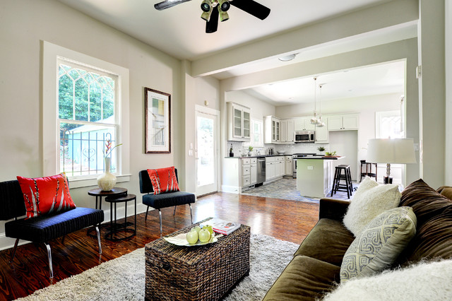 Wicker Trunk Living Room Contemporary with Area Rug Baseboards Ceiling