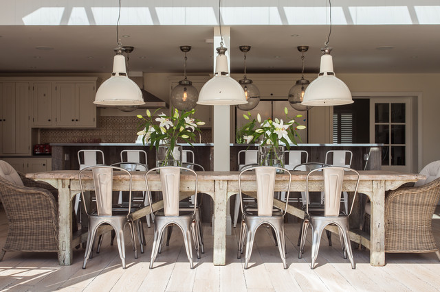 Wicker Warehouse Dining Room Shabby Chic with Dining Table Centrepieces Distressed