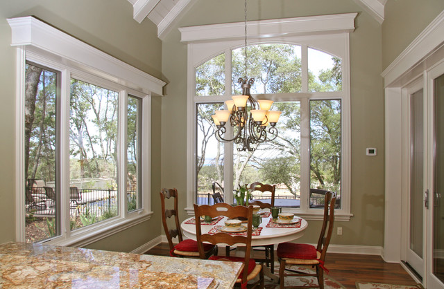 Window Cornice Dining Room Traditional with Baseboards Breakfast Nook Chair