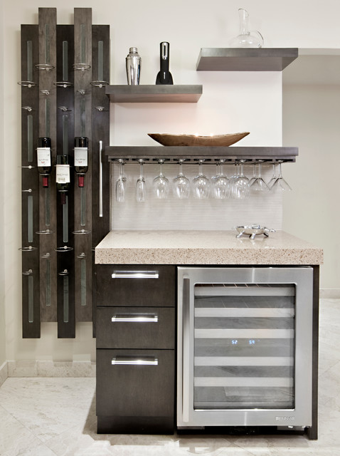 Wine Bottle Chandelier Kitchen Contemporary with Custom Floating Shelves Hanging