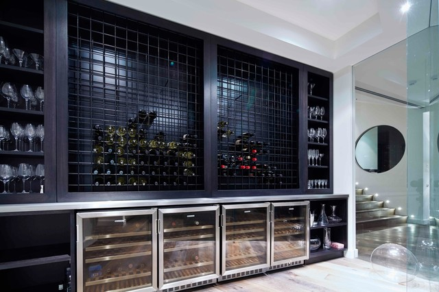 Wine Cellar Innovations Wine Cellar Contemporary with Barware Built in Shelves Built In