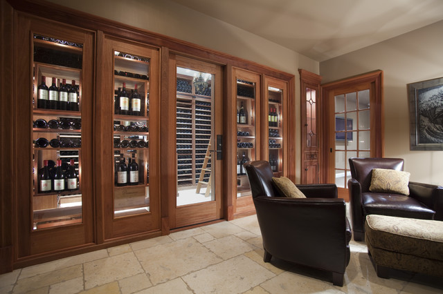 Wine Cellar Innovations Wine Cellar Traditional with Cabinetry Cellar Climate Controlled