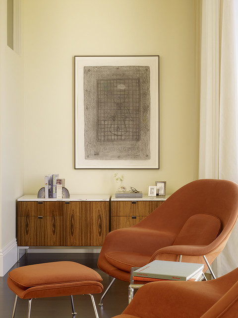 Womb Chair Bedroom Midcentury with Armchair Credenza Modern Credenza