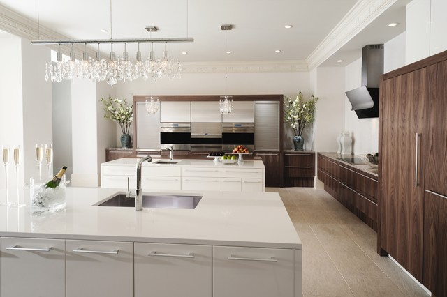 Wood Mode Cabinets Kitchen Contemporary with Appliance Garage Cabinet Front2