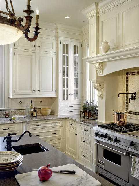 Wood Mode Cabinets Kitchen Traditional with Bar Sink Beige Cabinets1