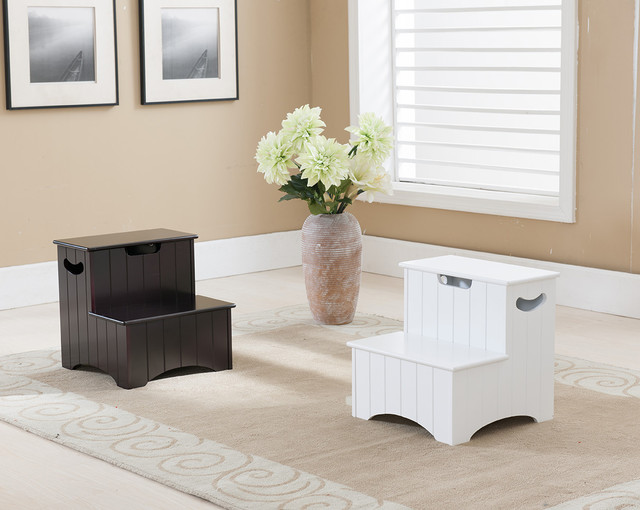 Wood Step Stool Spaces Modern with Furniture Home Khome