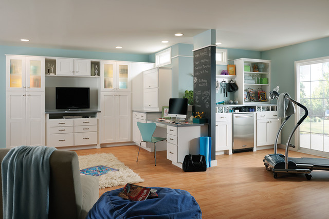 Woodmark Cabinets Basement Traditional with Beanbag Chalkboard Paint Exercise