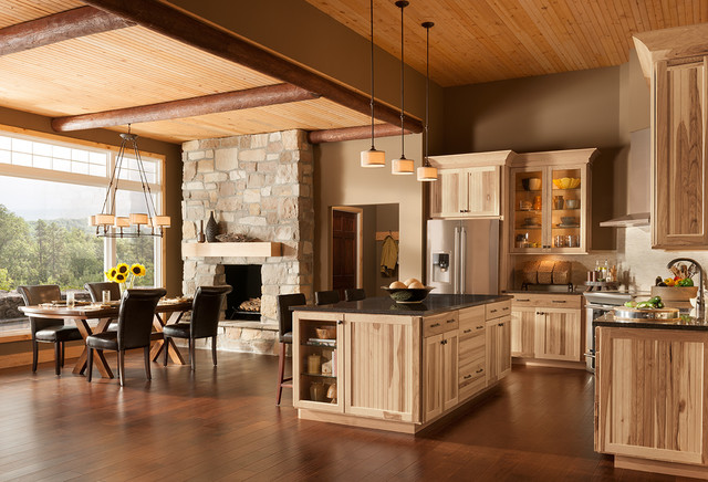 Woodmark Cabinets Kitchen Rustic with Beadboard Cabin Cottage Country