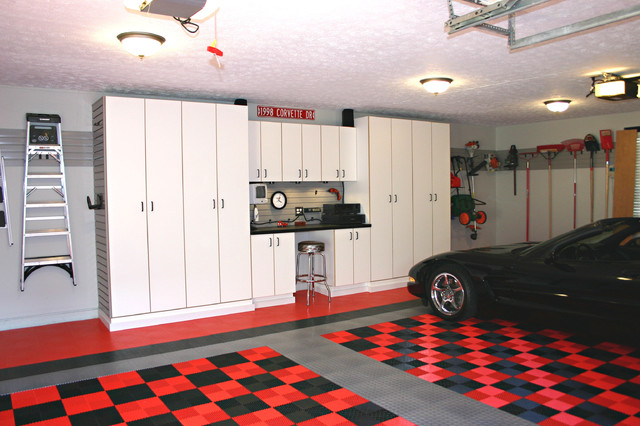 Workbench Ideas Garage and Shed Traditional with Black Car Black Corvette
