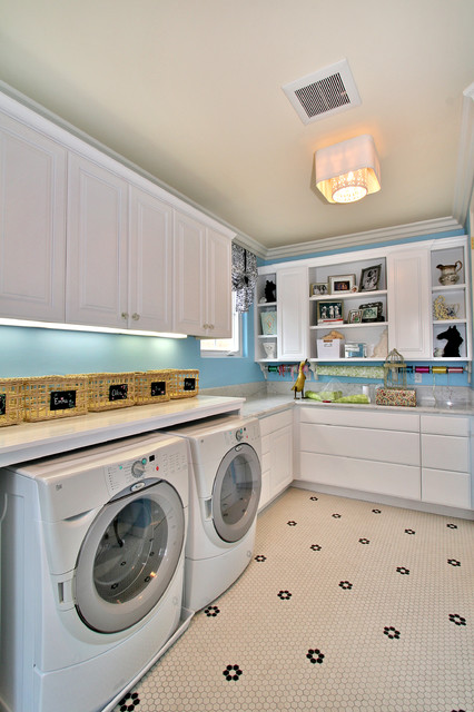 Workbench Ideas Laundry Room Contemporary with Ceiling Lighting Crown Molding