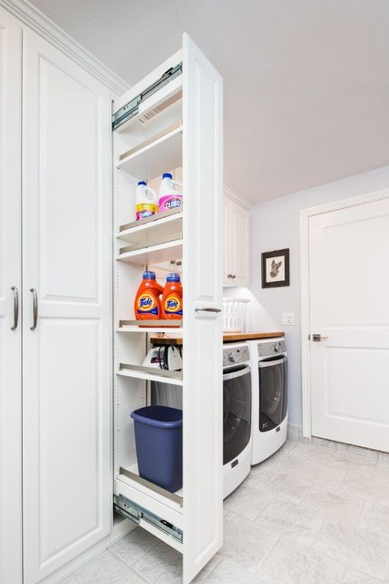 Workbench Ideas Laundry Room Traditional with Full Height Cabinets Pullout