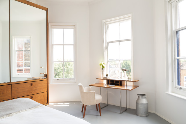Writing Desk with Drawers Bedroom Scandinavian with Angled Corner Armchair Bedroom