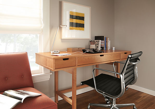 writing desk with drawers Home Office Contemporary with custom desk Framed Artwork