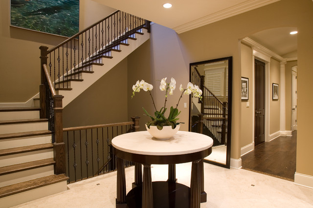 Wrought Iron Balusters Staircase Traditional with Banister Baseboards Ceiling Lighting