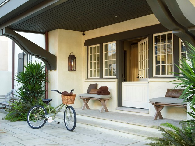 Wrought Iron Bench Entry Beach with Dutch Door Mcalpine Booth
