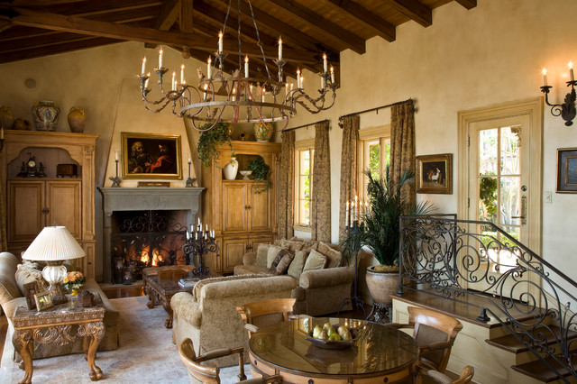 Wrought Iron Chandeliers Living Room Mediterranean with Beams Cathedral Ceiling Chandelier
