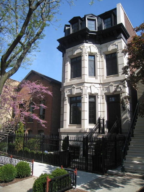 Wrought Iron Fencing Exterior Victorian with Black and White Exterior