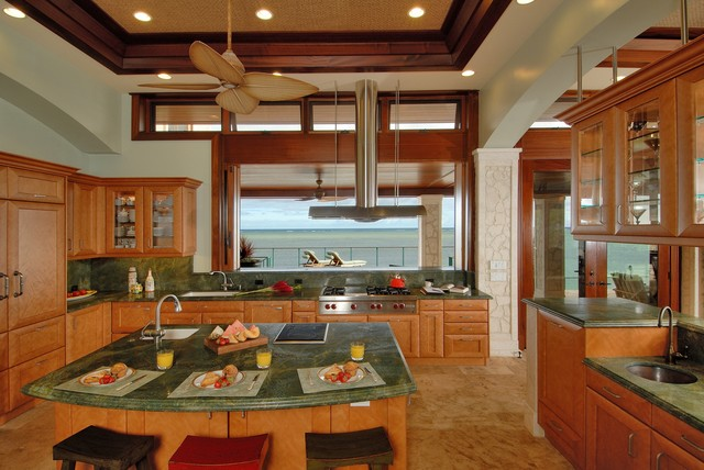 Zephyr Hoods Kitchen Beach with Archways Awning Windows Breakfast