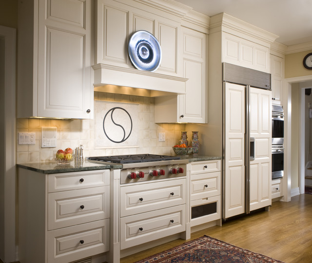 Zephyr Range Hoods Kitchen Traditional with Cottonwood Mills Integrated Kitchen
