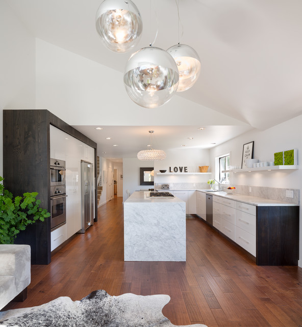 Zuri Furniture Kitchen Contemporary with Ceiling Light Cluster Globe