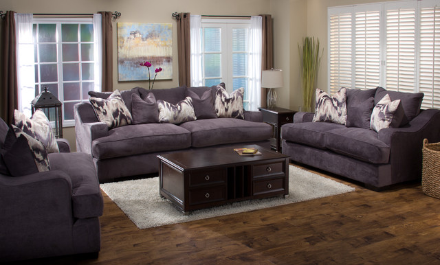 Zuri Furniture Spaces Modern with Contemporary Living Room Down
