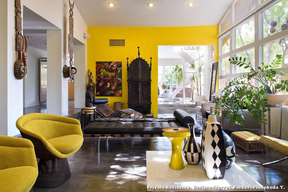 African Daybed  for Eclectic Living Room and Bright Colors
