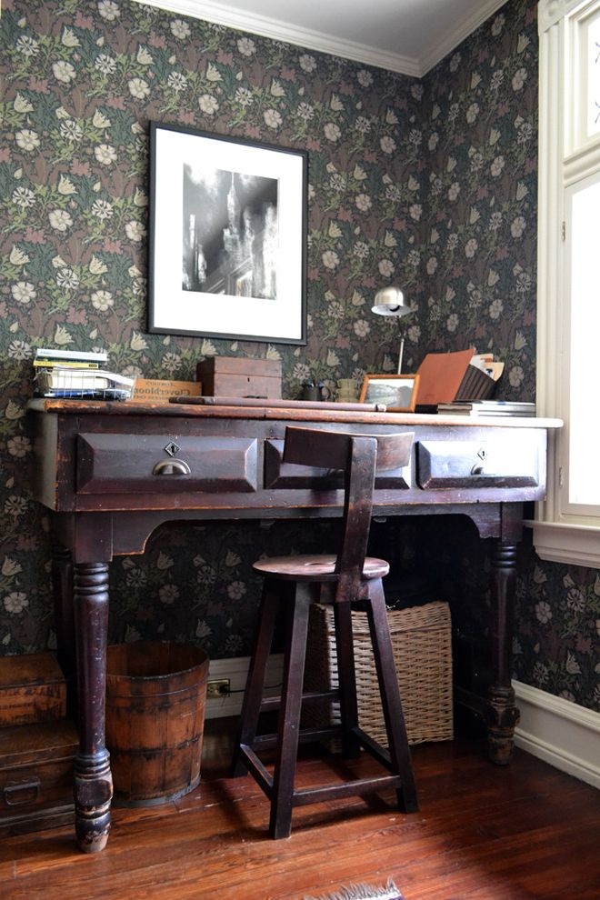 Antique Mederainan Desk  for Rustic Home Office and Reading Light