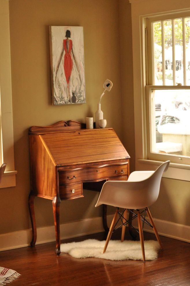 Antique Mederainan Desk  for Traditional Home Office and Eames Chair