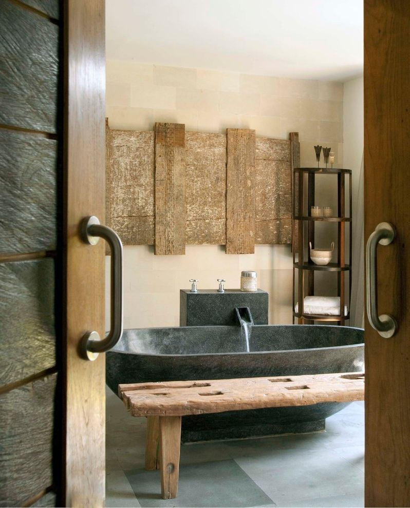 Asian Rustic  for Asian Bathroom and Black