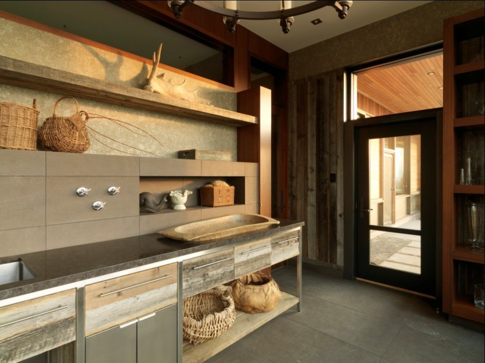 Asian Rustic  for Rustic Entry and Tile Flooring