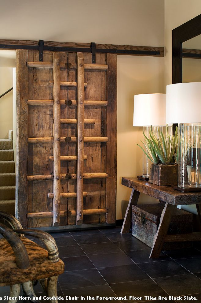Asian Rustic  for Southwestern Entry and Barn Door
