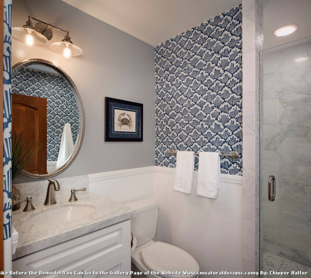 Bathroom Coastal Home Design Ideas ~ Board and batten beach bathroom ideas for traditional