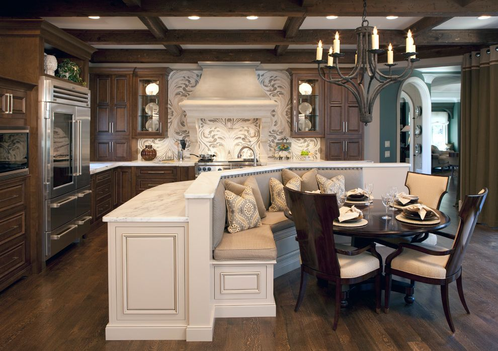 Brackets for Banquet Seating  for Traditional Kitchen and Custom Backsplash