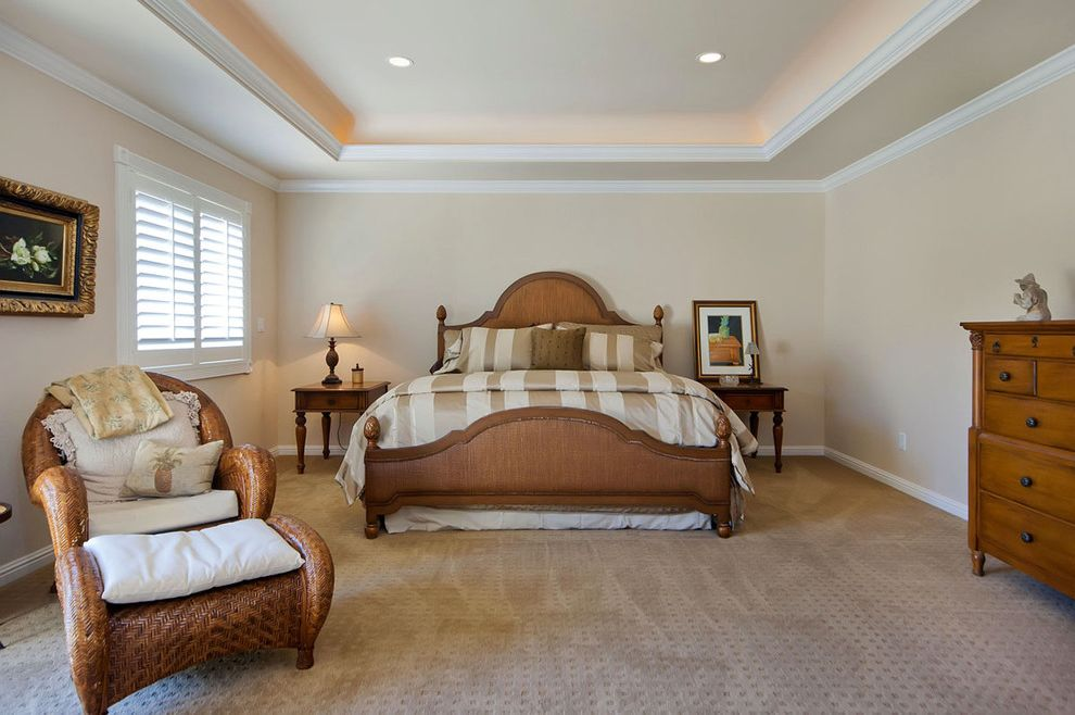 Ceiling Carpet  for Traditional Bedroom and Ottoman
