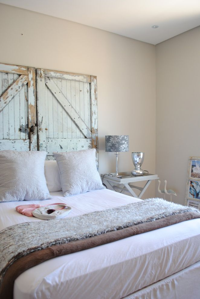 Coastal Chic Headboard  for Shabby Chic Style Bedroom and Door Headboard