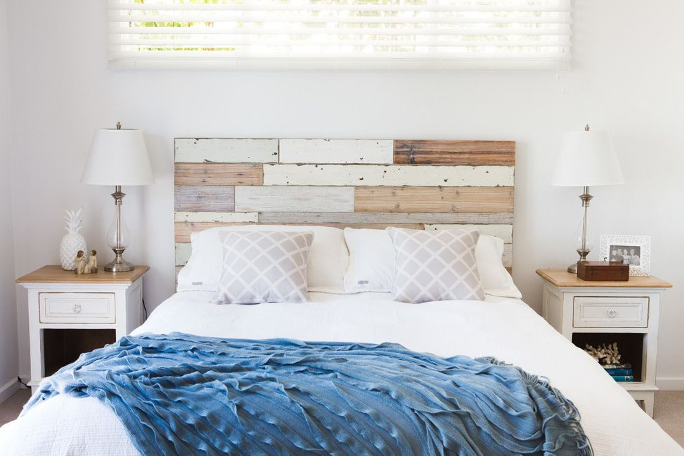 Coastal Chic Headboard  for Shabby Chic Style Bedroom and Shabby Chic