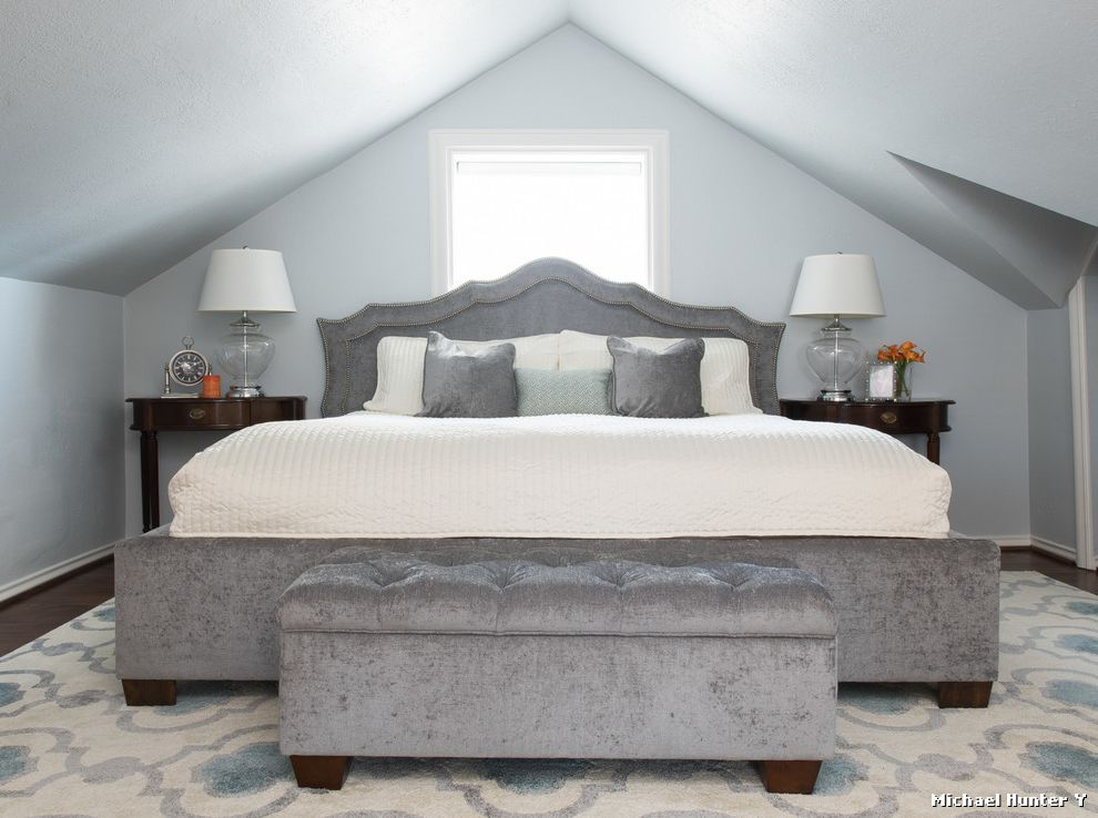 Coastal Chic Headboard  for Traditional Bedroom and Low Ceiling