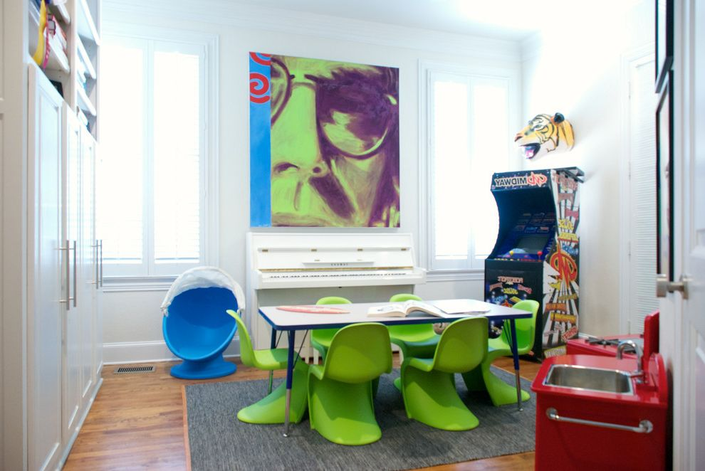 Contemporary Aluminium Blue Kids Chair for Contemporary Kids and Music