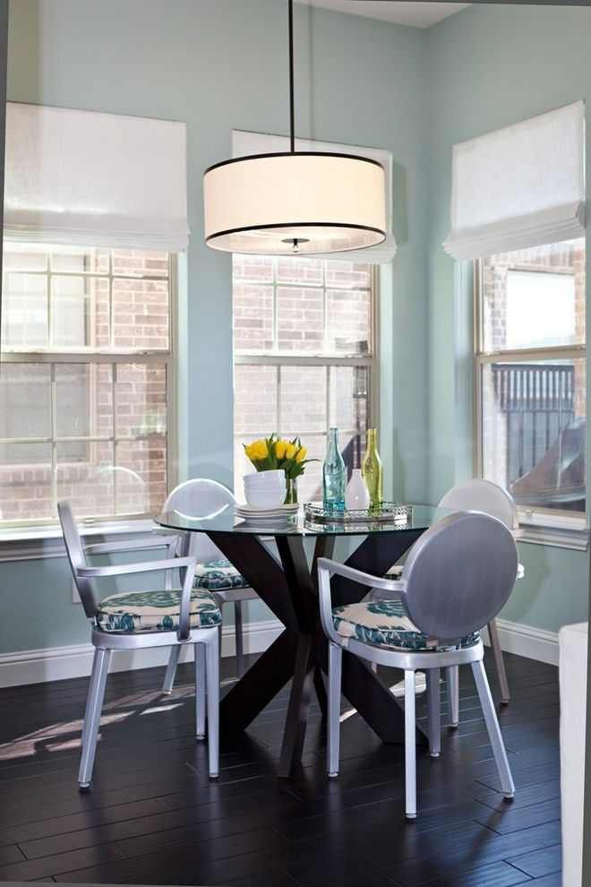 Contemporary Aluminium Blue Kids Chair for Transitional Dining Room and Tablescape