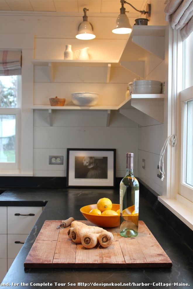 Cottage Style Kitchens with Banquetts  for Rustic Kitchen and Harbor
