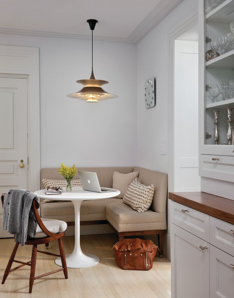 Cottage Style Kitchens with Banquetts  for Transitional Kitchen and Corner Seating