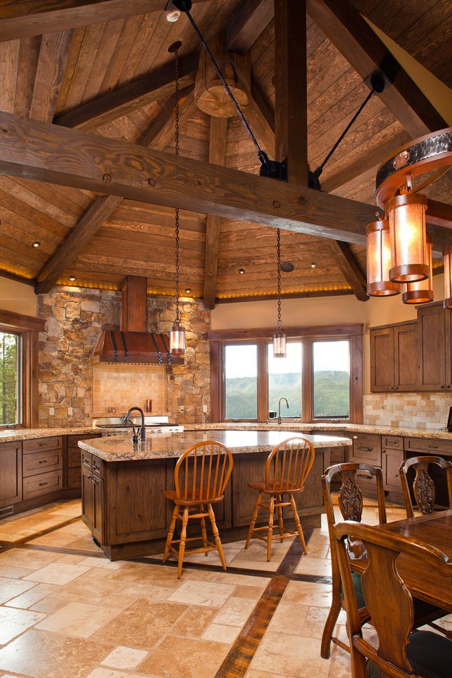 Country Ventahood  for Rustic Kitchen and Island Lighting